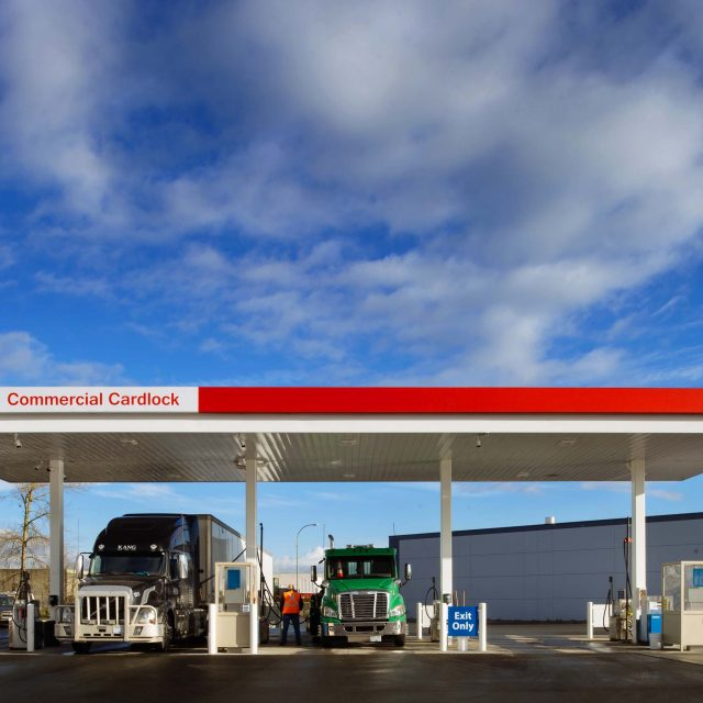 Esso Cardlock Commercial Exterior by Keystone Architecture