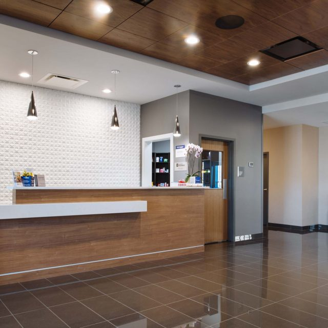 Merritt Hotel Interior Lobby Design by Keystone Architecture