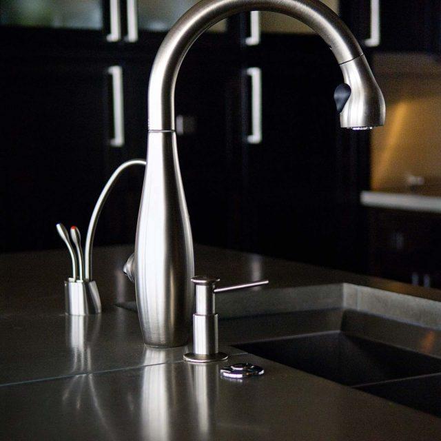Modern Condominium Faucet Detail | Site Lines Architecture