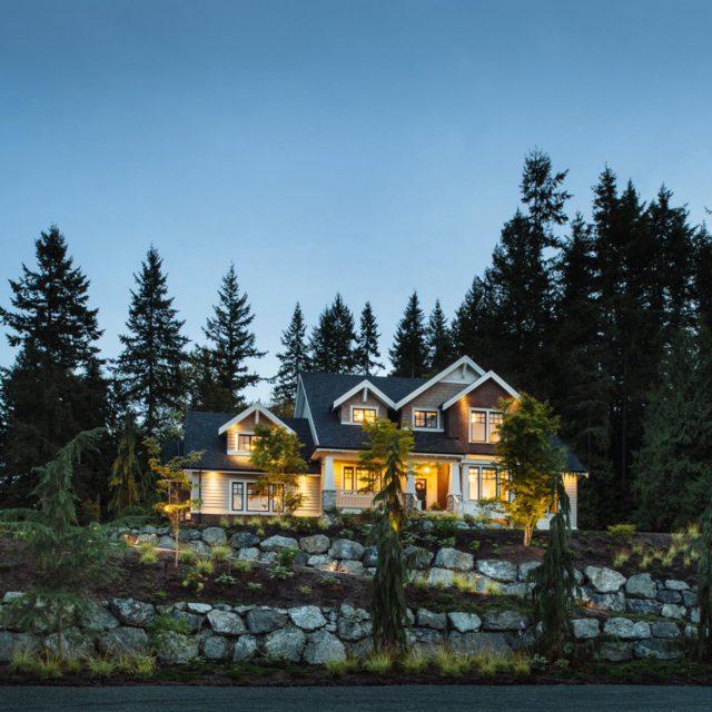 Custom Traditional Home Exterior by Rockridge Fine Homes