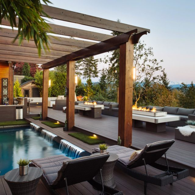 Custom West Coast Timber Frame Home by GoldEdge Properties