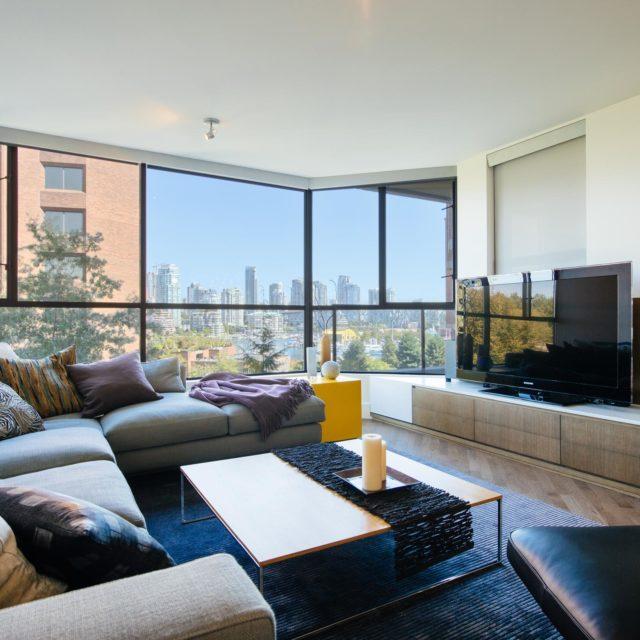 Condominium Living Room Renovation by Rockridge Fine Homes