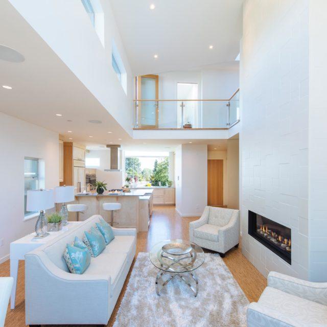 Contemporary Living Room Interior by Kenorah Design + Build
