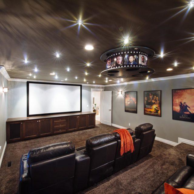 Home Theater Interior Design | Kenorah Design + Build