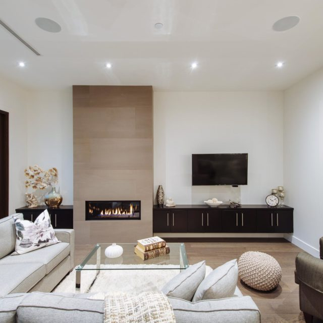 Custom Living Room Design by Rockridge Fine Homes