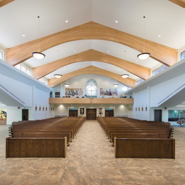 St Clare of Assisi Parish Church Interior Photography by Keystone Architecture