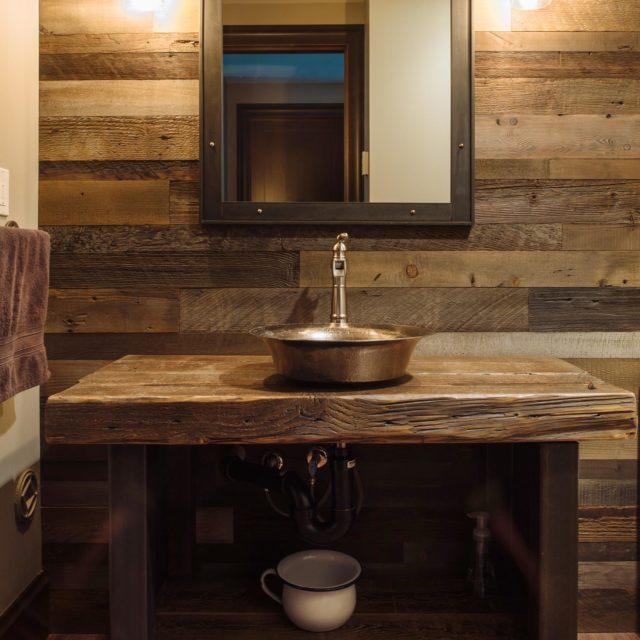 Rustic Wood Vanity | Kenorah Design + Build