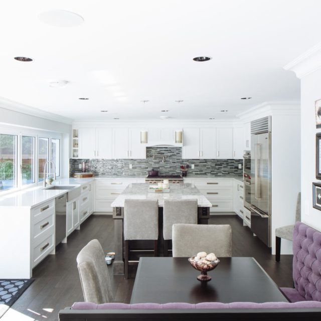 Modern Kitchen Interior Renovation by Kenorah Design + Build