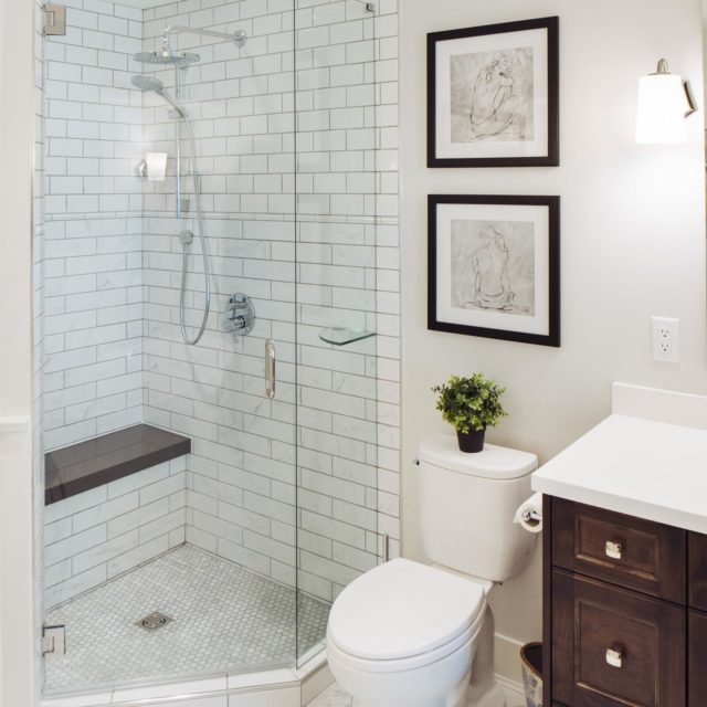 Bright Bathroom Renovation by Pro-Pack Contracting & Design